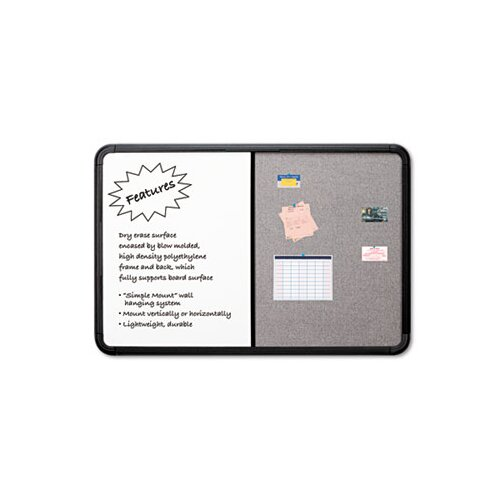 Iceberg Enterprises Ingenuity Combo Dry Erase/Fabric 3' x 4' Whiteboard and Bulletin Board