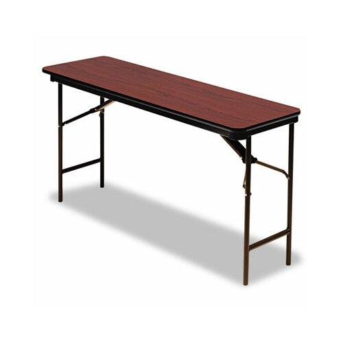 "Iceberg Enterprises Iceberg Premium Wood Laminate 72"" Rectangular Folding Table"