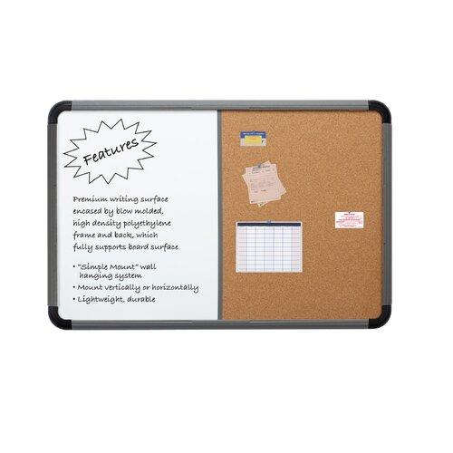 Iceberg Enterprises Combo Dry Erase/Fabric 2' x 3' Whiteboard and Bulletin Board
