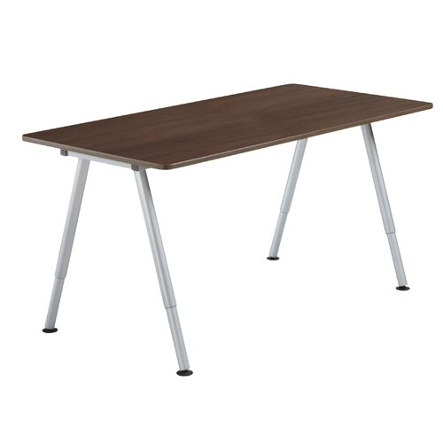Iceberg Enterprises OfficeWorks Teaming Table with Fixed Height Legs and Casters