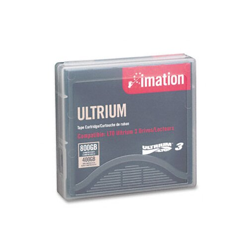 "Imation 1/2"" LTO-3 Data Cartridge, 2200ft, 400GB Native/800GB Compressed Data Capacity"