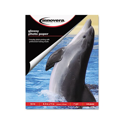 Innovera® Glossy Photo Paper, 50 Sheets/Pack