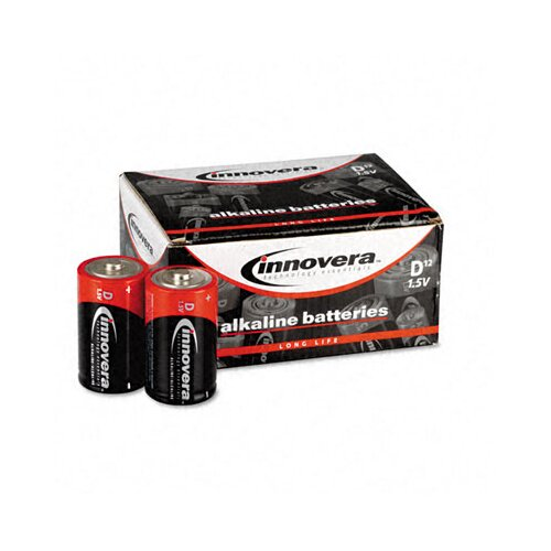Innovera® Alkaline Batteries, D, 12/pack