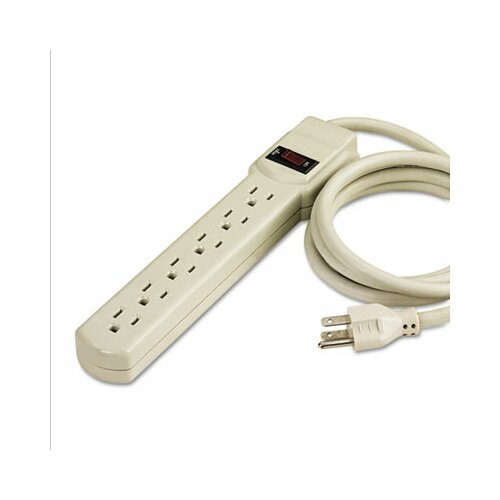 Innovera® Six-Outlet Power Strip, 4-Foot Cord