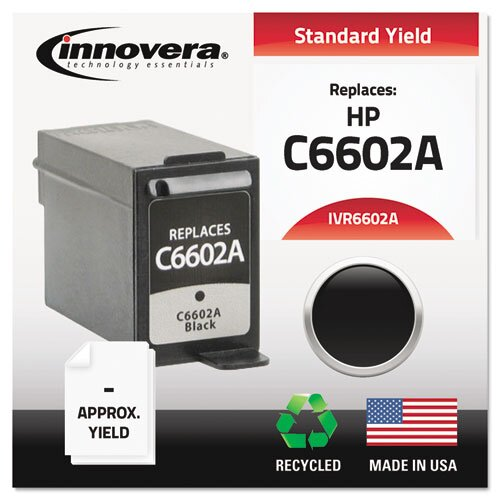 Innovera® C6602A Black Ink