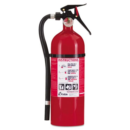 Kidde Fire and Safety Service Lite Multi-Purpose Dry Chemical Fire Extinguisher