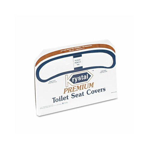 Krystal Boardwalk Premium Half-Fold Toilet Seat Covers, 250 Covers/Box, 20 Boxes/Carton