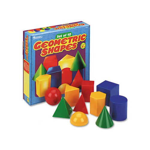 Learning Resources® Large Geometric Shapes 10 Piece Set