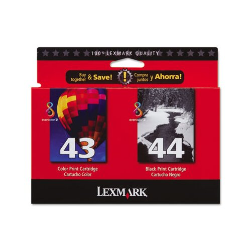 Lexmark International Ink Cartridge, 500 Page-Yield, 2/Pack