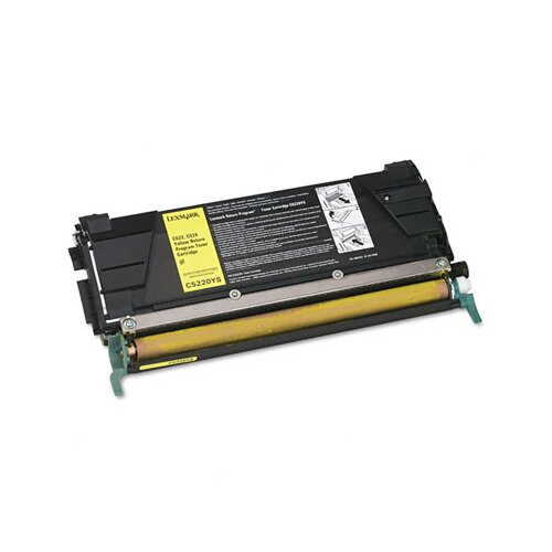 Lexmark International C5220YS Toner Cartridge, 3000 Page-Yield