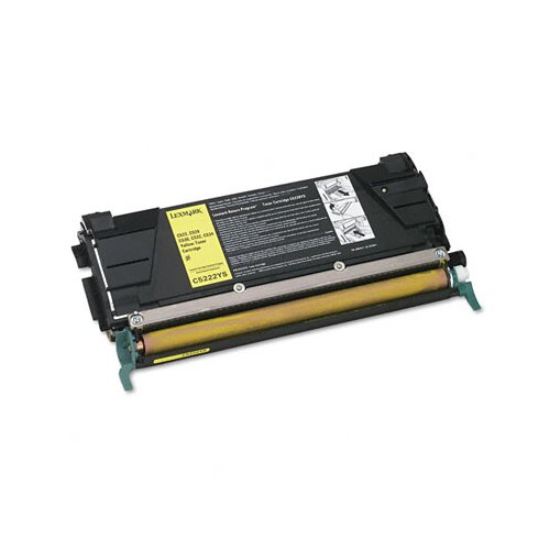 Lexmark International C5222YS Toner Cartridge, 3000 Page-Yield