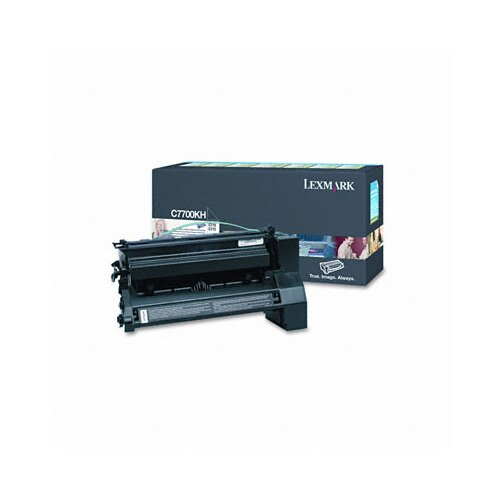 Lexmark International C7700KH High-Yield Toner, 10000 Page-Yield
