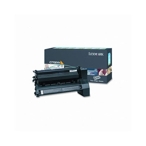 Lexmark International C7700YH High-Yield Toner, 10000 Page-Yield