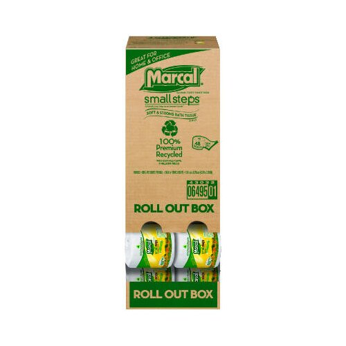 Marcal Paper Mills, Inc. Roll Out 100% Recycled Bath Tissues in White