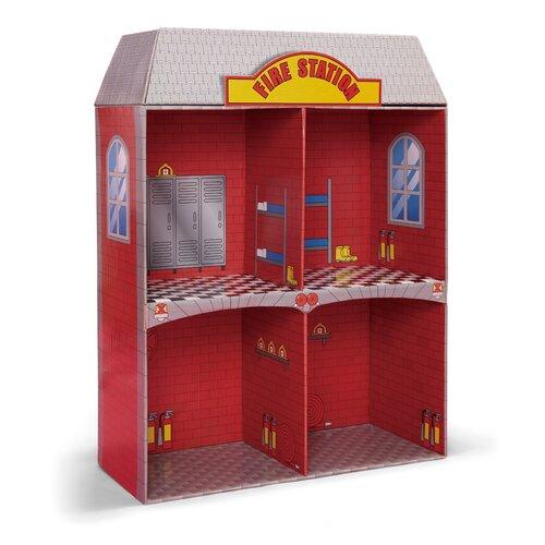 Badger Basket Adventure Fire Station Dollhouse