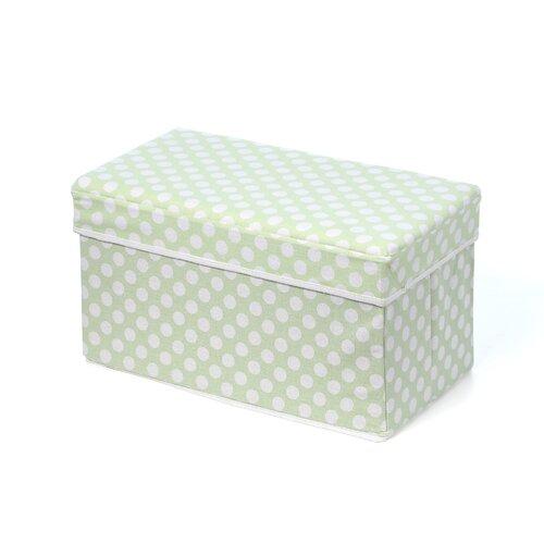 Badger Basket Double Folding Storage Seat in Polka Dot