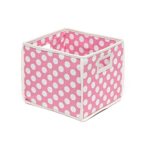 Badger Basket Folding Storage Cube in Polka Dot