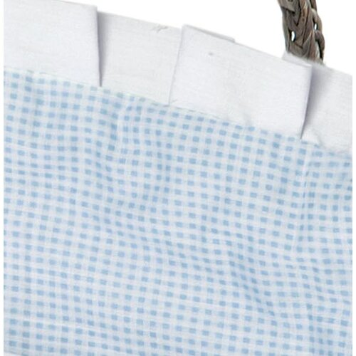Badger Basket Hooded Moses Basket with Gingham Bedding