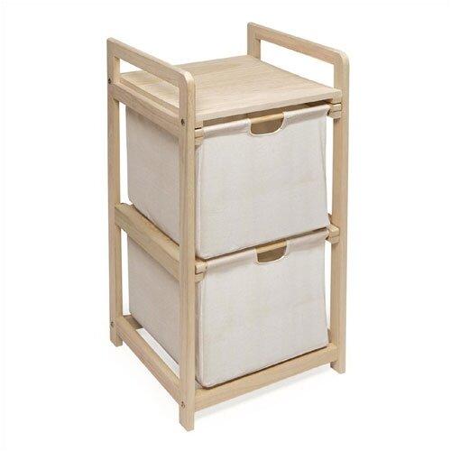 Badger Basket 2 Drawer Hamper/Storage Unit