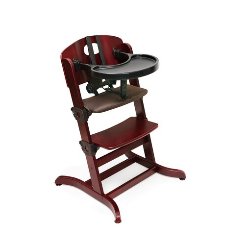 Badger Basket Evolve Wood High Chair with Cushion and Tray