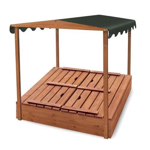 Badger Basket Convertible Cedar 4' Rectangular Sandbox with Cover