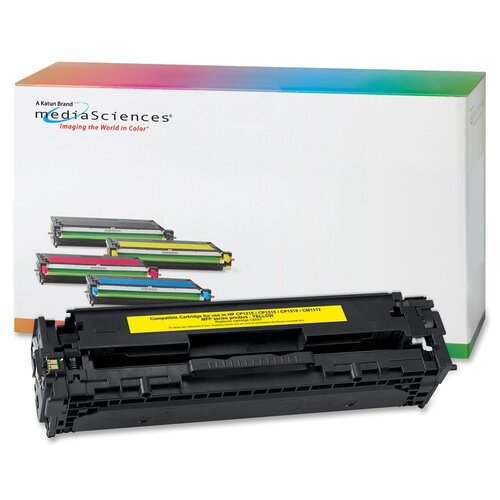 Media Sciences® Toner Cartridge, 1,400 Page Yield, Yellow