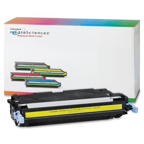 Media Sciences® Toner Cartridge, 4,000 Page Yield, Yellow