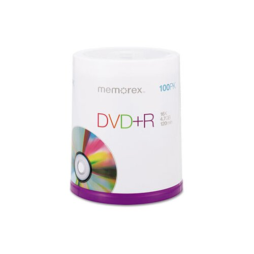 Memorex DVD + R Discs, 100/Pack