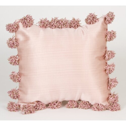 Madison Pillow with Pom Poms