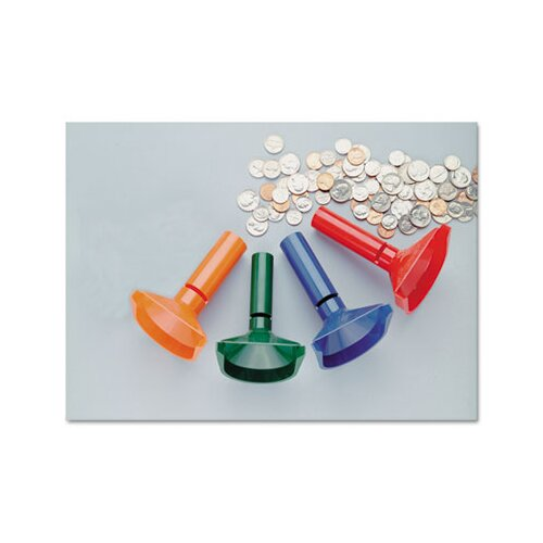 MMF Industries Steelmaster Color-Coded Coin Counting Tubes F/Pennies Through Quarters