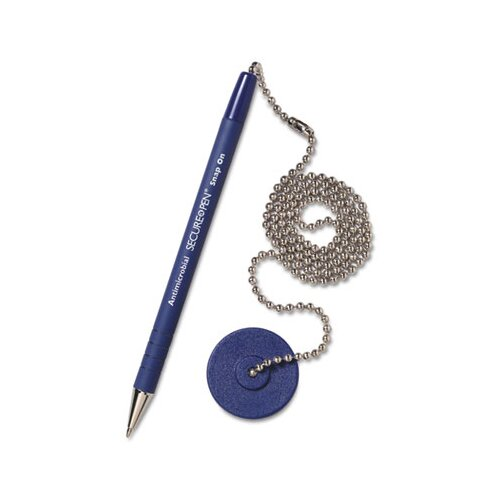 MMF Industries Secure-A-Pen Ballpoint Counter Pen with Base