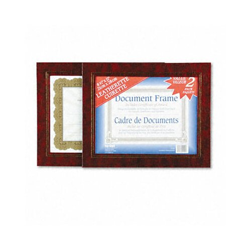 Nudell Plastics Leatherette Document Frame, 8-1/2 X 11, Pack of Two