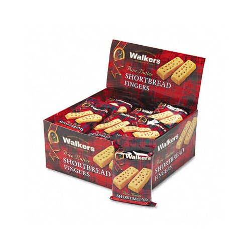Office Snax Walker's Shortbread Cookies, 2/Pack, 24 Packs/Box