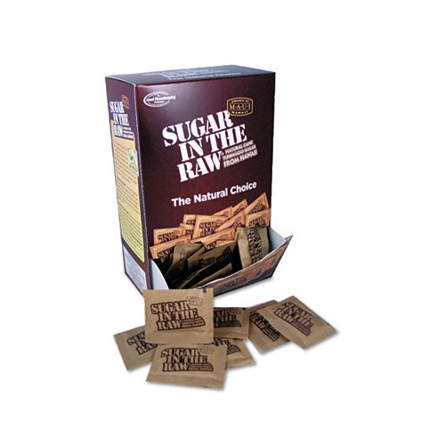 Office Snax Unrefined Sugar Made From Sugar Cane, 200 Packets/Box