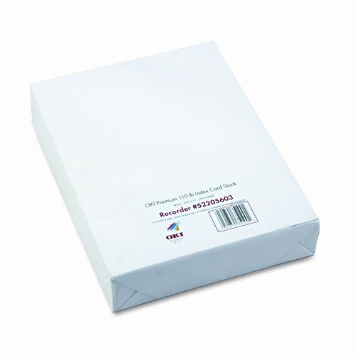 OKI Premium Card Stock, 250 Sheets/Box