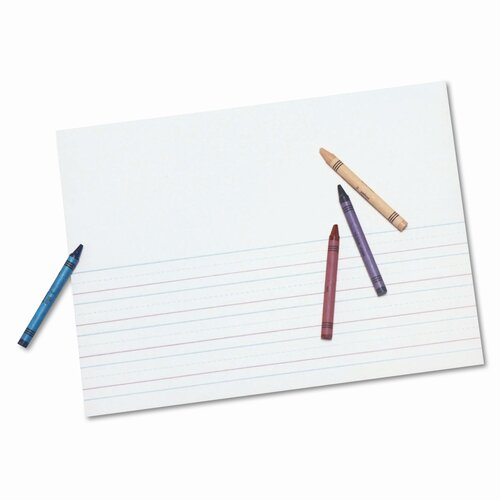 "Pacon Corporation Multi-Program Picture Story Paper, 0.63"" Long Rule, 500 Sheets/Pack"