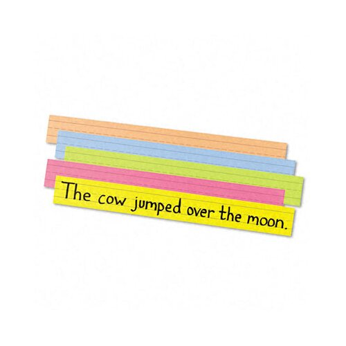 Pacon Corporation Super Bright Sentence Strips, ages 4-8