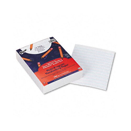 "Pacon Corporation Multi-Program Handwriting Paper, 0.5"" Short Rule, 500 Sheets/Pack"
