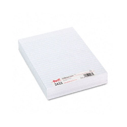 "Pacon Corporation Composition Paper, 0.38"" Ruling, 16 Lbs., 500 Sheets/Pack"