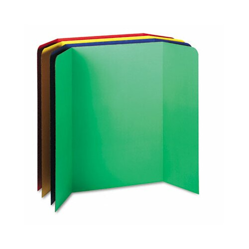 Pacon Corporation Tri-Fold Presentation Boards, 48 x 36, Assorted Colors, Four Boards