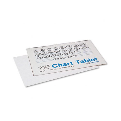 Pacon Corporation Chart Tablet with Manuscript Cover, 25 Sheets/Pad