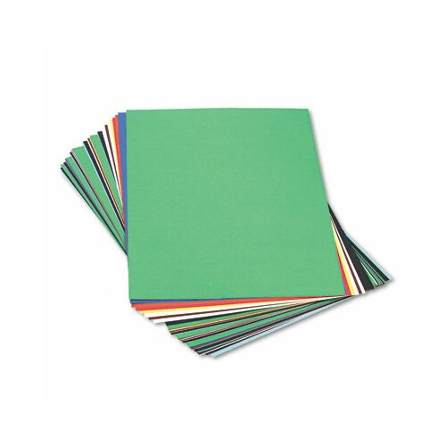 Pacon Corporation Peacock Sulphite Construction Paper, Rigid, 24 x 36, 10 Colors, 50 Sheets