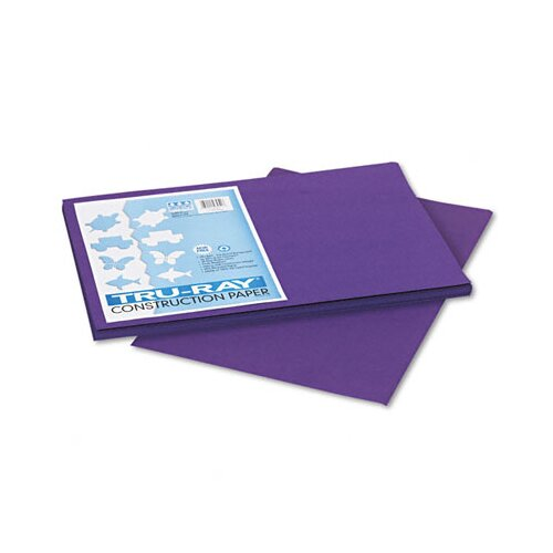 Pacon Corporation Tru-Ray Construction Paper, 100% Sulphite, 12 x 18, Purple, 50 Sheets