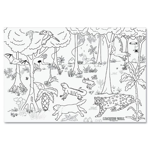 Pacon Corporation Rain Forest Learning Walls Paper