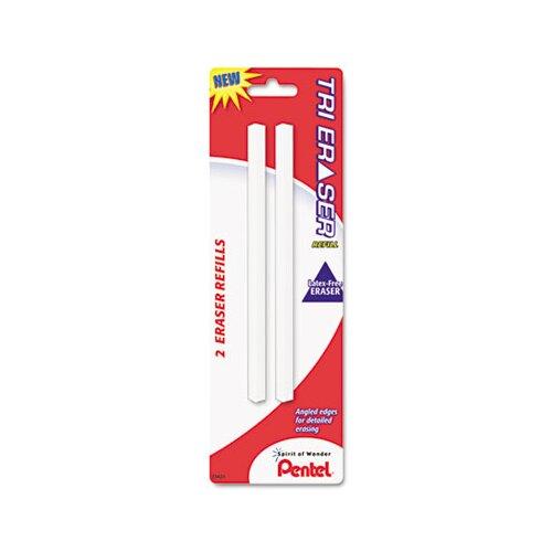 Pentel of America, Ltd. Refills For Tri Eraser, 2/Pack