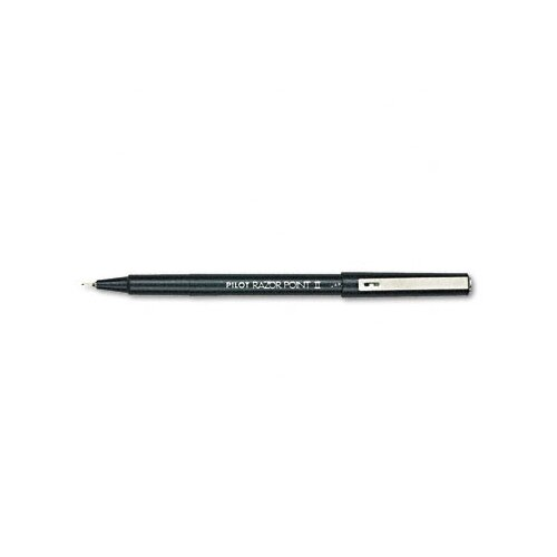 Pilot Pen Corporation of America Razor Point Ii Porous Point Stick Pen, Ultra Fine, 12/Pack
