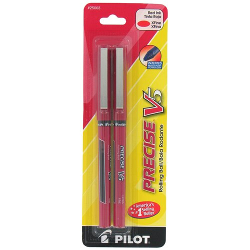 Pilot Pen Corporation of America Red Precise V5 Rolling Ball Pen