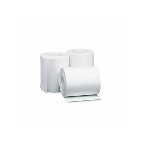 "PM Company Single-Ply Thermal Cash Register / Pos Roll, 4-3/8"" X 127 Ft., 50/Carton"