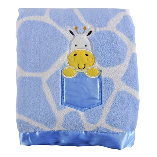 Giraffe Print Applique Baby Blanket