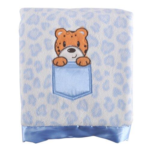 Leopard Print Applique Baby Blanket